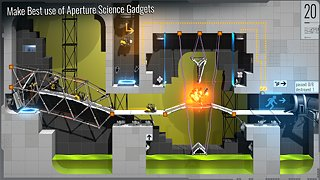 Bridge Constructor Portal - snímek obrazovky