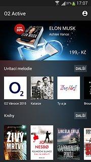 O2 Active - snímek obrazovky