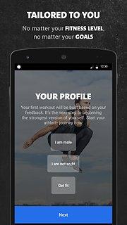 Freeletics Bodyweight - snímek obrazovky