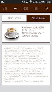 Můj McDonald's - snímek obrazovky