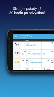 O2 TV - snímek obrazovky