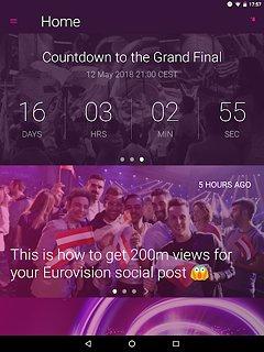Eurovision Song Contest - snímek obrazovky