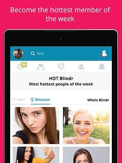 Blindr - snímek obrazovky