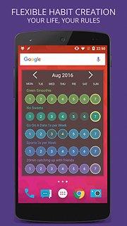 Habit Tracker - snímek obrazovky