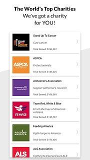 Charity Miles Walk&Run Tracker - snímek obrazovky