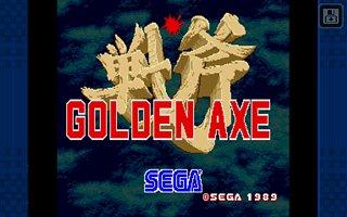 Golden Axe Classic - snímek obrazovky