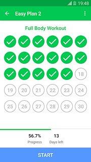 30 Day Fitness Challenge - snímek obrazovky