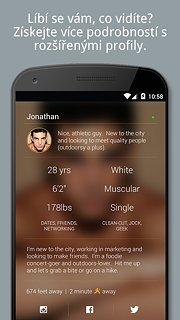 Grindr - snímek obrazovky