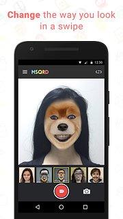 MSQRD - snímek obrazovky