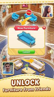 Matchington Mansion: Match-3 Home Decor Adventure - snímek obrazovky