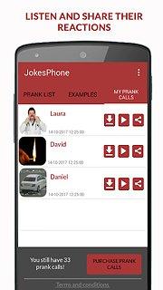 JokesPhone - Prank Calls - snímek obrazovky