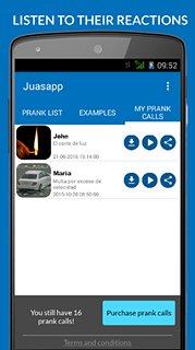 Juasapp - Prank Calls - snímek obrazovky