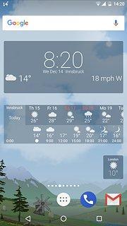 YoWindow - snímek obrazovky