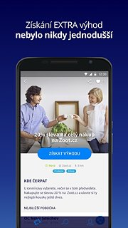 O2 Extra výhody - snímek obrazovky