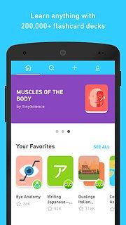 Tinycards - snímek obrazovky