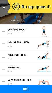 Home Workout - No Equipment - snímek obrazovky
