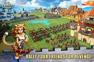 Lords Mobile - snímek obrazovky
