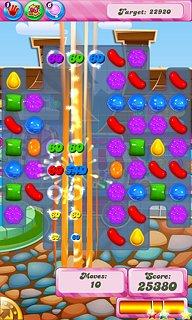 Candy Crush Saga - snímek obrazovky