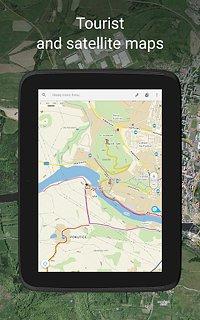 Mapy.cz - snímek obrazovky