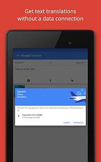 Google Translate - snímek obrazovky