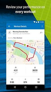 Run with Map My Run - snímek obrazovky