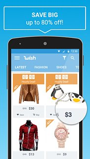 Wish - The secret to affordable shopping - snímek obrazovky