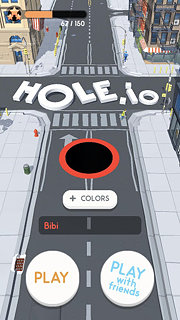 Hole.io - snímek obrazovky