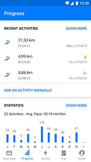 Runtastic Running App & Fitness Tracker - snímek obrazovky