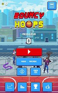 Bouncy Hoops - snímek obrazovky